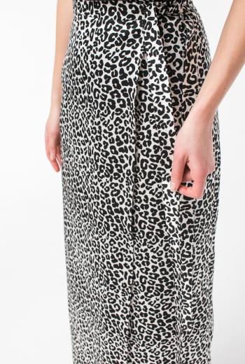 Юбка миди с леопардовым принтом