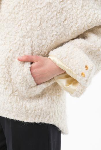 Куртка бомбер-oversize с вышивкой на спине