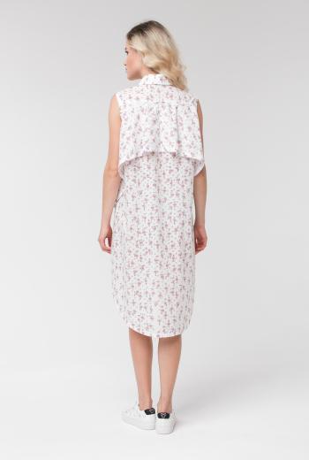 Платье-рубашка без рукавов с принтом
