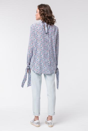 Шелковая блуза с цветочным принтом