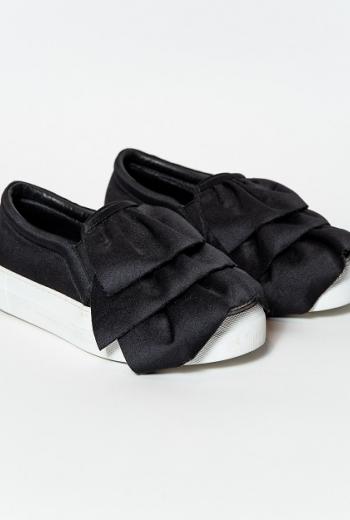 Туфли из текстиля с воланами