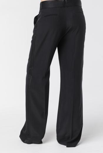 Шелковые брюки с поясом