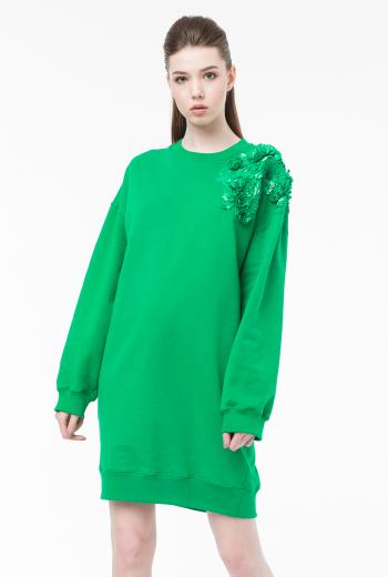 Платье-джемпер с вышивкой