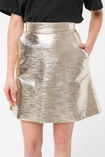 Юбка  из металлизированной ткани