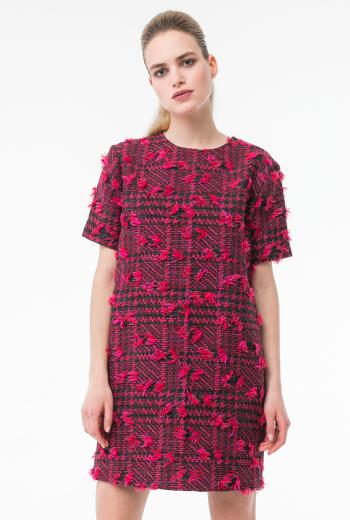 Платье-туника в клетку