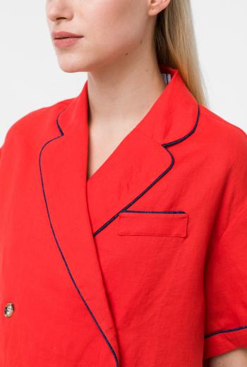 Льняная блуза