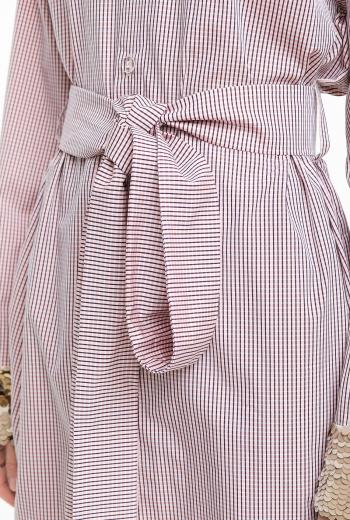 Платье- рубашка с отделкой пайетками