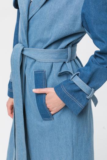 Джинсовое пальто-trench