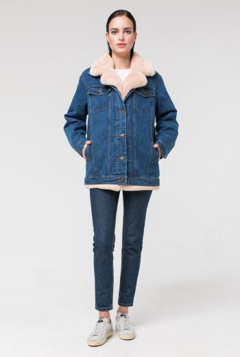 Джинсовая куртка со съемной подстежкой