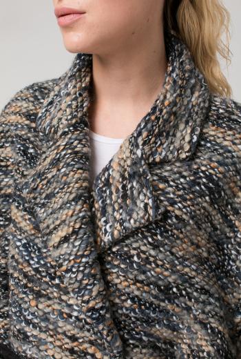 Пальто-oversize с поясом