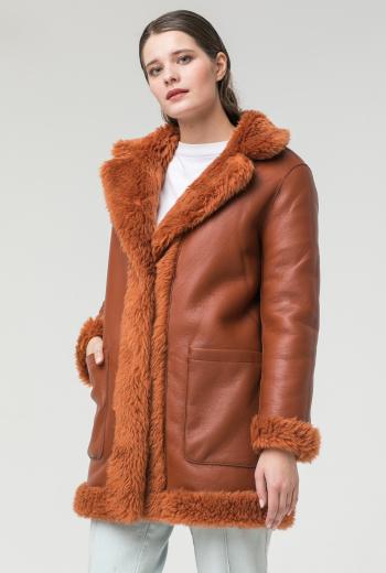 Двустороннее меховое пальто